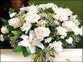 12 White Mixed Flowers with Seasonal Fillers (6 lilies & 6 Carnation)